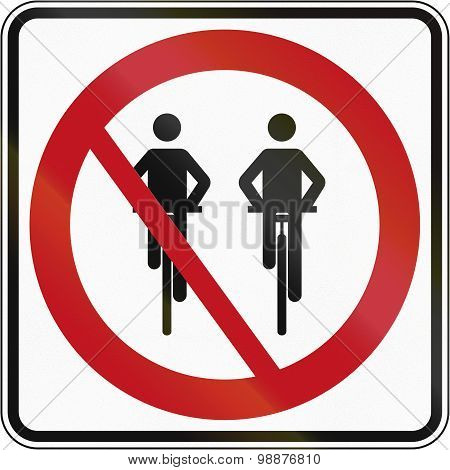 No Overtaking For Cyclists In Canada