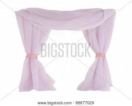 Airy Drapes On White