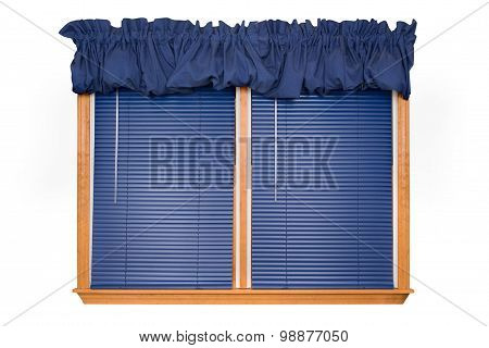 Isolated Window with Blinds (clipping Path)