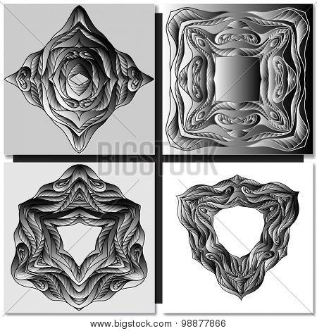 Decorative black ornamental pattern background