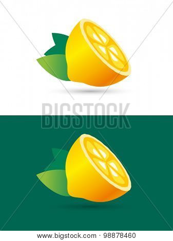 Lime or lemon fruit slice. Lemonade juice logo icon template design. Fresh, juice, drink, yellow or green. Vegetarian, cold. drinks. Lime or orange fruits slice