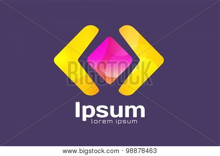 Arrow abstract logo vector template. Web or app symbol, cursor navigation icon, arrowheads marker and dynamic shape or orientation marker. Buiness logo. Company logo. Arrow shape