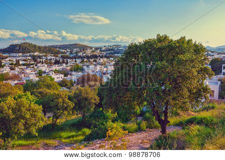Touristic place Bodrum town in Turkey