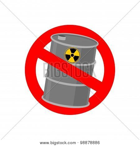 Prohibiting Signs Biohazard. Crossed Barrel Of Toxic Waste. Vector Illustration
