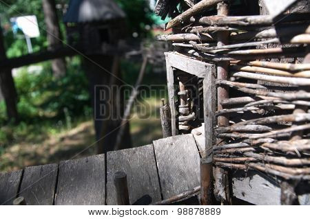 Toy Wooden House Entrance
