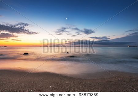 Beautiful Cloudscape Over The Sea,