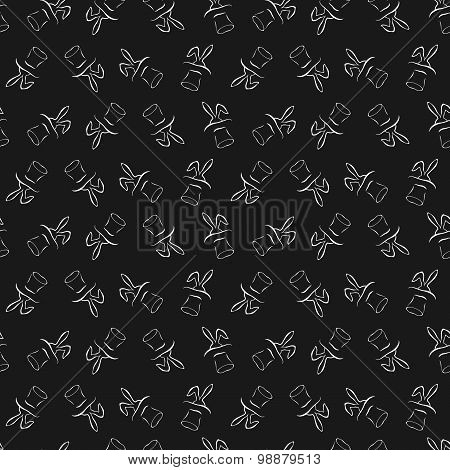 Seamless pattern with cartoon rabbit