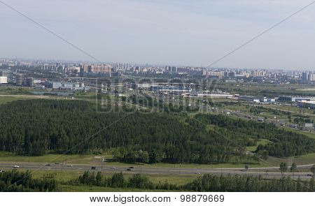 View Of St. Petersburg From Height