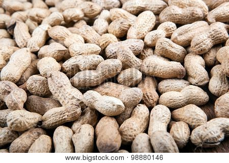 Large Grains Of Peanuts In The Shell