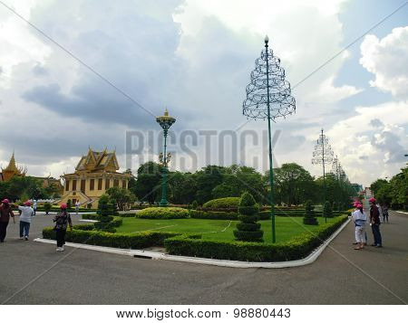 Park in the Royal Palace of Cambodia