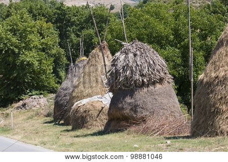 Hand Made Bales Of Hay
