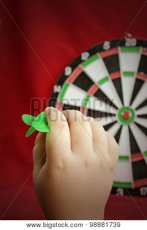 The Hand Holds A Dart For Darts.