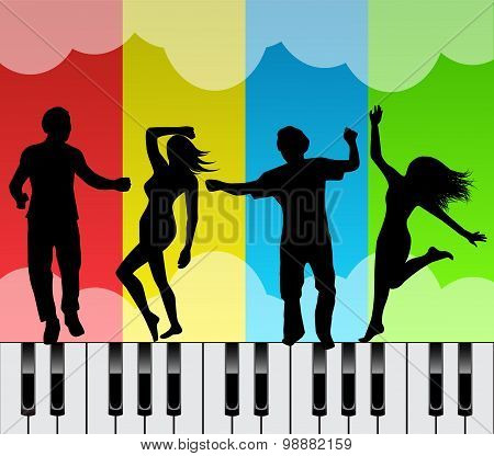 dancing on the keys of a piano