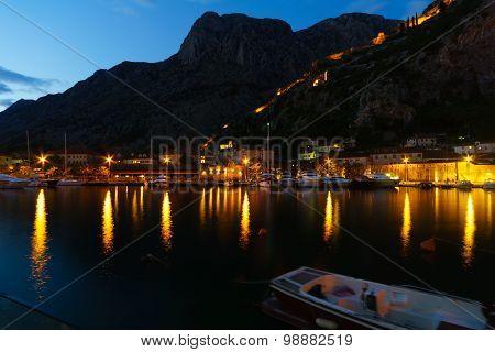 Night View In Kotor