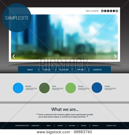 Website Design for Your Business with Blurred Image Background