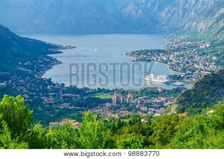 View Of The Bay Of Kotor From Lovcen Mountain