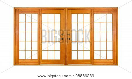 Isolated Double Doors (clipping Path)