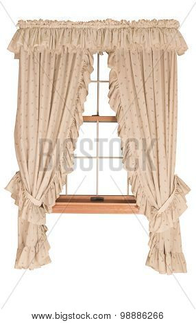 Window with Curtains, Isolated