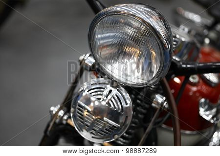 Motorcycle Headlight And Horn