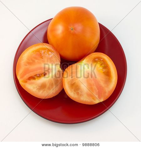 Tomatoes on a plate.