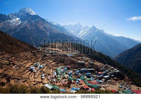 Namche Bazaar village Nepal