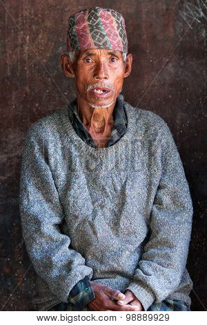 Nepalese Man In Bhaktapur