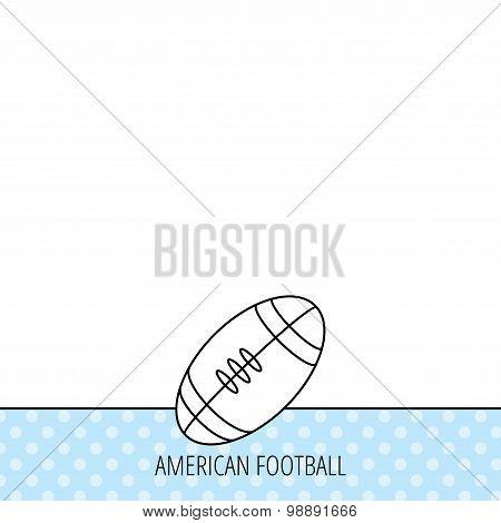 American football icon. Sport ball sign.