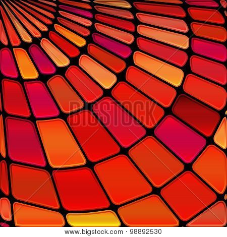 Abstract Vector Stained-glass Mosaic Background