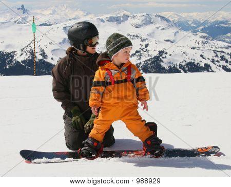 Snowboard-Lektion