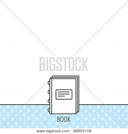 Book icon. Education sign.