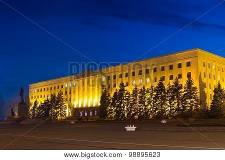 Night Lenin Square
