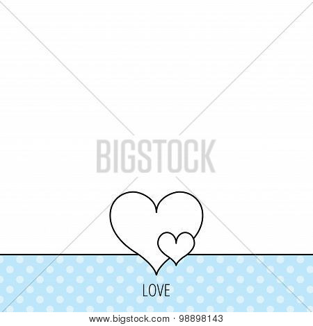 Love hearts icon. Lovers sign.