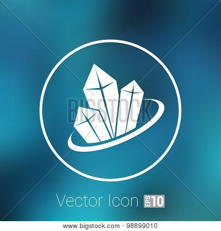 crystal vector icon illustration isolated cold, new elements