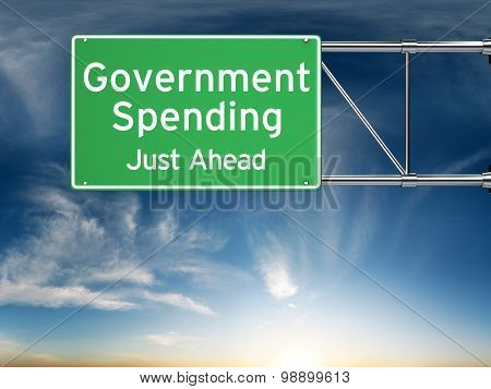 Government spending just ahead