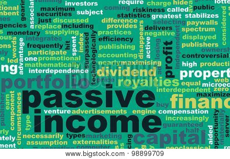 Passive Income as a Wealth Concept Art
