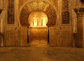 stock photo of harem  - The Great Mosque of Cordoba in Spain - JPG
