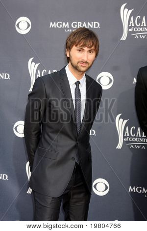 LAS VEGAS - APR 3:  Dave Haywood of Lady Antebellum  arriving at the Academy of Country Music Awards 2011 at MGM Grand Garden Arena on April 3, 2011 in Las Vegas, NV.