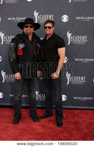 LAS VEGAS - APR 3:  Montgomery Gentry arriving at the Academy of Country Music Awards 2011 at MGM Grand Garden Arena on April 3, 2011 in Las Vegas, NV.