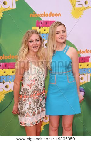 LOS ANGELES - APR 2:  AnnaSophia Robb, Lorraine Nicholson arrive at the 2011 Kids Choice Awards at Galen Center, USC on April 2, 2011 in Los Angeles, CA