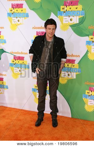 LOS ANGELES - APR 2:  Cory Monteith arriving at the 2011 Kids Choice Awards at Galen Center, USC on April 2, 2011 in Los Angeles, CA