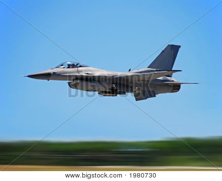 Military Jet In Flight