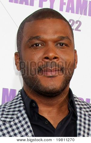 "LOS ANGELES - APR 19:  Tyler Perry arrives at the ""Madea's Big Happy Family"" Premiere at ArcLight Cinemas Cinerama Dome on April 19, 2011 in Los Angeles, CA.."