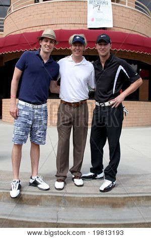 LOS ANGELES - APR 18: Zack Conroy, Jack Wagner, Kyle Lowder at the 2011 Jack Wagner Golf Classic to benefit The Leukemia & Lymphoma Society at Valencia Country Club on April 18, 2011 in Valencia, CA.