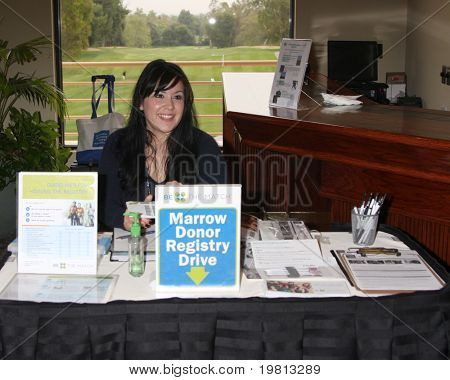LOS ANGELES - APR 18:  Morrow Donor Registry Table at the 2011 Jack Wagner Golf Classic to benefit The Leukemia & Lymphoma Society at Valencia Country Club on April 18, 2011 in Valencia , CA..