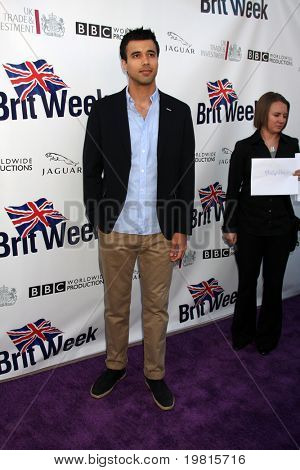 LOS ANGELES - APR 26:  Phillip Rhys arriving at the 5th Annual BritWeek Launch Party at British Consul General's residence on April 26, 2011 in Los Angeles, CA..