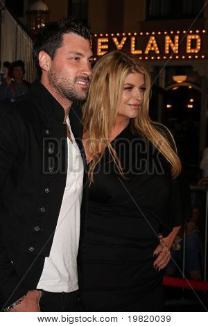 "LOS ANGELES - MAY 7:  Maksim Chmerkovskiy, Kirstie Alley arriving at the ""Pirates of The Caribbean: On Stranger Tides"" World Premiere at Disneyland on May 7, 2011 in Anaheim, CA"