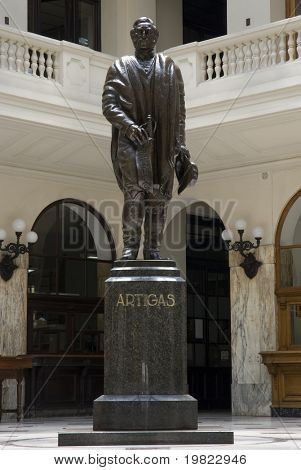 Artigas's Statue inside the post office building in Montevideo, Uruguay, 2008