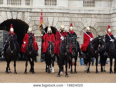 Horse guards on horseback in London
