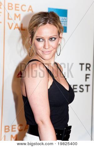 NEW YORK - APRIL 23: Actress Hilary Duff attends the 8th Annual Tribeca Film Festival 'Stay Cool' premiere at BMCC Tribeca PAC on April 23, 2009 in NEW YORK