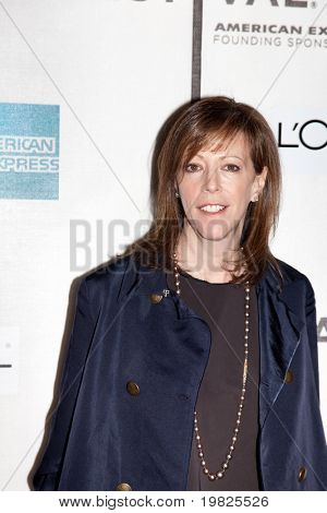NEW YORK - APRIL 27:Co-founder Jane Rosenthal and attends the premiere of 'Wonderful World' premiere at the Tribeca Film Festival on April 27, 2009 in New York.